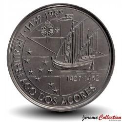 PORTUGAL - PIECE de 100 Escudos - Découverte des Açores - 1989