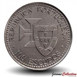 PORTUGAL - PIECE de 100 Escudos - Découverte de Madère - 1989