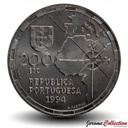 PORTUGAL - PIECE de 200 Escudos - Division du monde - 1994