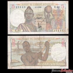 AFRIQUE OCCIDENTALE FRANÇAISE - Billet de 5 Francs - 9-3-1948 P36.1