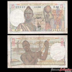 AFRIQUE OCCIDENTALE FRANÇAISE - Billet de 5 Francs - 9-3-1948