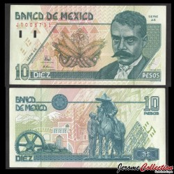 MEXIQUE - BILLET de 10 Pesos - Emiliano Zapata - 1996