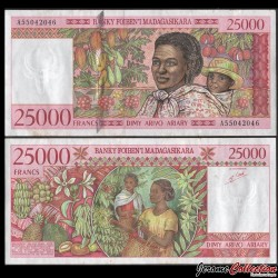 MADAGASCAR - Billet de 25000 Francs - 1998