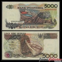 INDONESIE - Billet de 5000 Rupiah - Volcan Kelimutu - 1992 / 1999 P130h