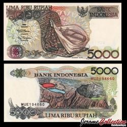 INDONESIE - Billet de 5000 Rupiah - Volcan Kelimutu - 1992 / 1993 P130b