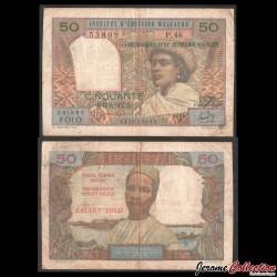 MADAGASCAR - Billet de 10 Ariary - 50 francs - 1969