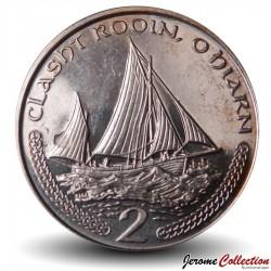 ILE DE MAN - PIECE de 2 Pence - Bateau de pêche - 2002 Km#1037