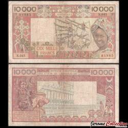 BCEAO - COTE D'IVOIRE - Billet de 10000 Francs - 1990 P109Ai