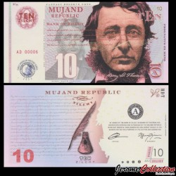MUJAND - Billet de 10 Zilchy - Henry David Thoreau