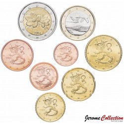 FINLANDE - SET / LOT de SET / LOT de 8 PIECES de 1 2 5 10 20 50 Cents 1 2 Euro - 2004 Km#98 99 100 101 102 103 104 105