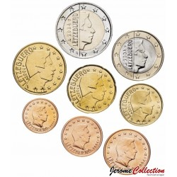 LUXEMBOURG - SET / LOT de SET / LOT de 8 PIECES de 1 2 5 10 20 50 Cents 1 2 Euro - 2004 Km#75 76 77 78 79 80 81 82