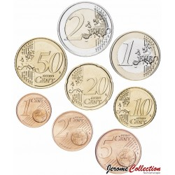 LUXEMBOURG - SET / LOT de SET / LOT de 8 PIECES de 1 2 5 10 20 50 Cents 1 2 Euro - 2004
