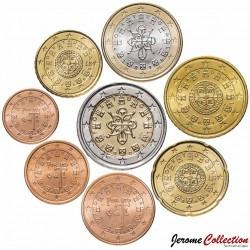 PORTUGAL - SET / LOT de SET / LOT de 8 PIECES de 1 2 5 10 20 50 Cents 1 2 Euro - 2002 / 2003 Km#740 741 742 743 744 745 746