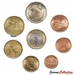 ITALIE - SET / LOT de SET / LOT de 8 PIECES de 1 2 5 10 20 50 Cents 1 2 Euro - 2002 Km#210 211 212 213 214 215 216 217