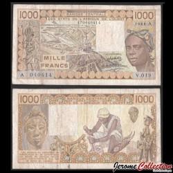 BCEAO - COTE D'IVOIRE - Billet de 1000 Francs - 1988 P107Aa
