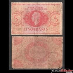 AFRIQUE EQUATORIALE FRANCAISE - Caisse Centrale de la France Outre-mer - 5 Francs - 02.02.1944