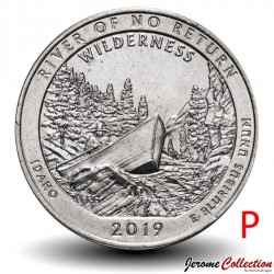 ETATS UNIS / USA - PIECE de 25 Cents - America the Beautiful - River of No Return - 2019 - P