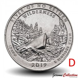ETATS UNIS / USA - PIECE de 25 Cents - America the Beautiful - River of No Return - 2019 - D
