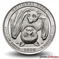 ETATS UNIS / USA - PIECE de 25 Cents - America the Beautiful - Parc national des Samoa américaines - 2020 - D