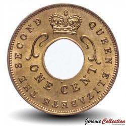 AFRIQUE ORIENTALE BRITANNIQUE - PIECE de 1 cent - 1962