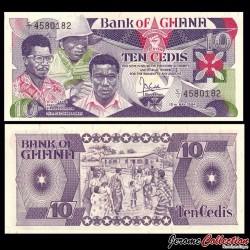 GHANA - Billet de 10 Cedis - 1984 P23a