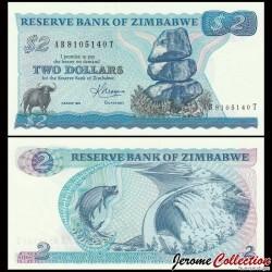 ZIMBABWE - Billet de 2 DOLLARS - 1983