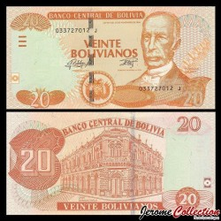 BOLIVIE - Billet de 20 Bolivianos - 2015 P244a.1
