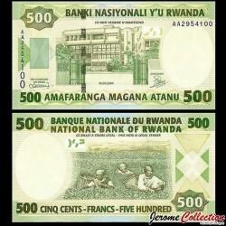 RWANDA - Billet de 500 Francs - Récolte de thé - 01.02.2008