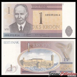 ESTONIE - Billet de 1 Kroon - 1992
