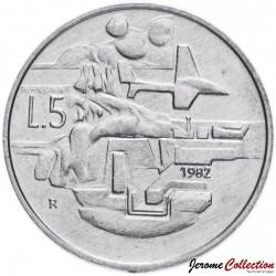 SAINT-MARIN - PIECE de 5 Lires - 1982 Km#133