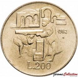 SAINT-MARIN - PIECE de 200 Lires - Hôpital - 1982 Km#138