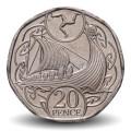 ILE DE MAN - PIECE de 20 Pence - Drakkar Viking - 2019