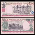 RWANDA - Billet de 5000 Francs - Récolte de thé - 01.02.2008