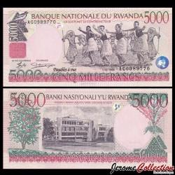 RWANDA - Billet de 5000 Francs - Récolte de thé - 01.02.2008 P28a