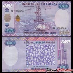 RWANDA - Billet de 2000 Francs - 2014