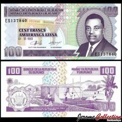 BURUNDI - Billet de 100 Francs - 1993 P37a