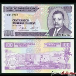 BURUNDI - Billet de 100 Francs - 1997 P37b