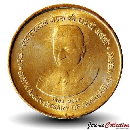 INDE - PIECE de 5 Roupies - Nehru - 2014 Schön#401