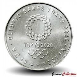 JAPON - PIECE de 100 Yen - Jeux Olympiques 2020, Tokyo - Escrime - 2018
