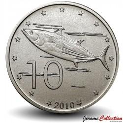ILES COOK - PIECE de 10 CENTS - Thon jaune- 2010