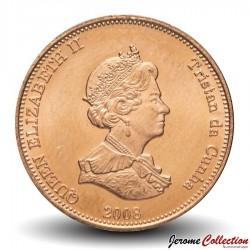 TRISTAN DA CUNHA - PIECE de 1/2 Penny - Poissons-avocettes - 2008
