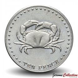 TRISTAN DA CUNHA - PIECE de 10 Pence - crabe - 2008 Km#31
