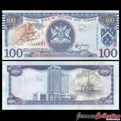 TRINITÉ-ET-TOBAGO - Billet de 100 DOLLARS - Grand oiseau du paradis - 2006