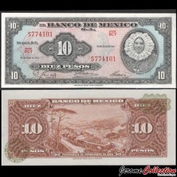 MEXIQUE - BILLET de 10 Pesos - Tehuana - 10.05.1967