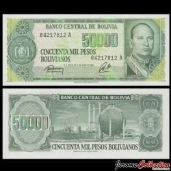 BOLIVIE - Billet de 50000 Pesos Bolivianos - 1984 P170a(2)