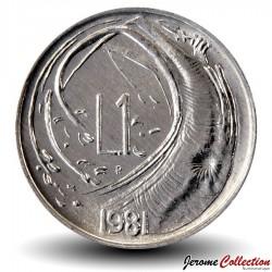 SAINT-MARIN - PIECE de 1 Lire - 1981