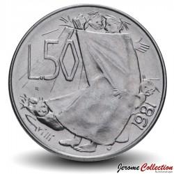 SAINT-MARIN - PIECE de 50 Lires - 1981