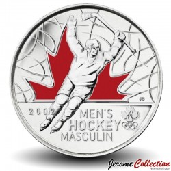CANADA - PIECE de 25 CENTS - Salt Lake City - La médaille d'or de hockey masculin - 2009