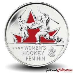 CANADA - PIECE de 25 CENTS - Salt Lake City - La médaille d'or de hockey féminin - 2009