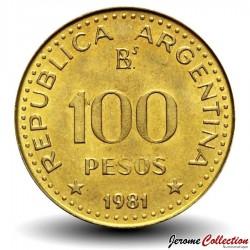 ARGENTINE - PIECE de 100 Centavos - José de San Martín - 1981 Km#85a